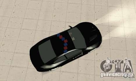 Pontiac GTO 2004 Cop для GTA San Andreas вид сзади слева