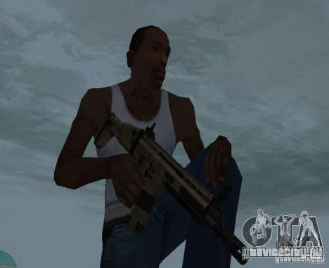 FN Scar L для GTA San Andreas третий скриншот