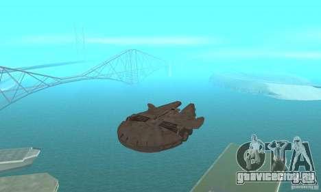Сокол Тысячилетия для GTA San Andreas вид сзади