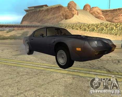 Pontiac Firebird Trans Am Turbo 1980 для GTA San Andreas