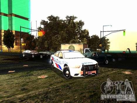 Dodge Charger 2011 Toronto Police для GTA San Andreas вид сзади