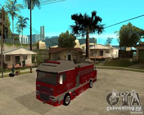 DAF XF 530 Пожарная для GTA San Andreas