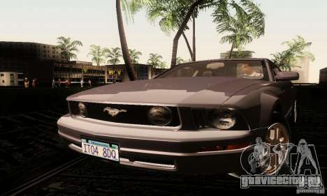 Ford Mustang GT Tunable для GTA San Andreas вид сзади слева