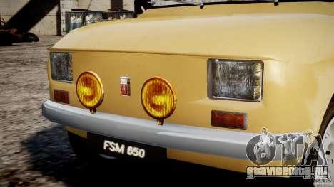 Fiat 126p 1976 для GTA 4 двигатель