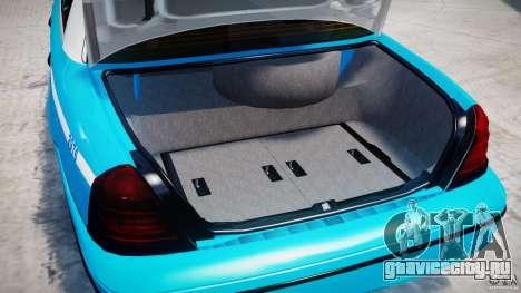 Ford Crown Victoria Classic Blue NYPD Scheme для GTA 4 вид сбоку
