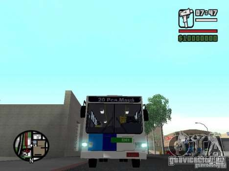 Cobrasma Monobloco Patrol II Trolerbus для GTA San Andreas вид изнутри