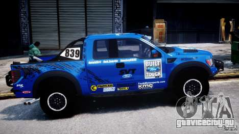 Ford F150 Racing Raptor XT 2011 для GTA 4 вид изнутри