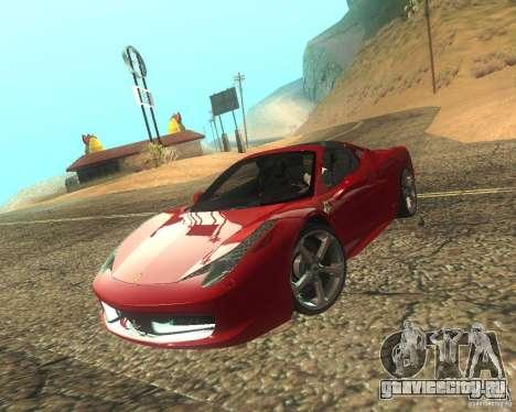 Ferrari 458 Italia Convertible для GTA San Andreas вид сбоку
