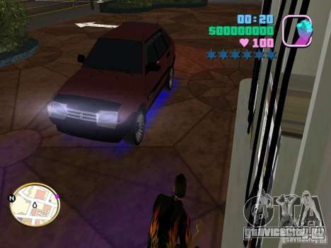 ВАЗ 2109 Samara для GTA Vice City вид сзади слева
