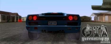 Lamborghini Diablo SV V1.0 для GTA San Andreas вид сзади