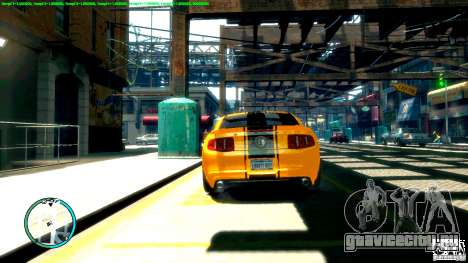 Shelby GT500 Super Snake 2011 для GTA 4 вид справа