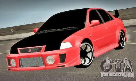 Mitsubishi Lancer Evolution 6 для GTA San Andreas вид справа