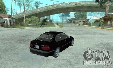 BMW 325i для GTA San Andreas вид слева