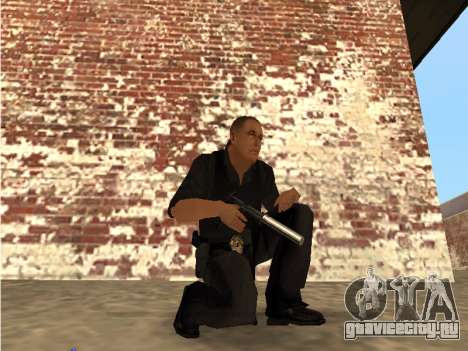 Chrome and Blue Weapons Pack для GTA San Andreas