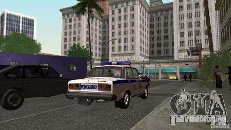 ВАЗ 2107 ППС Арзамаса для GTA San Andreas вид сзади слева
