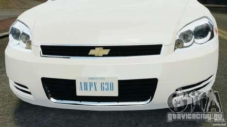 Chevrolet Impala 2012 LCPD для GTA 4 вид изнутри