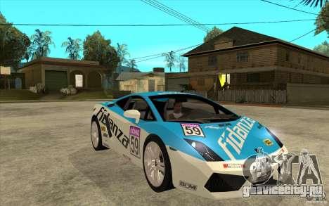 Lamborghini Gallardo LP560 для GTA San Andreas вид сзади