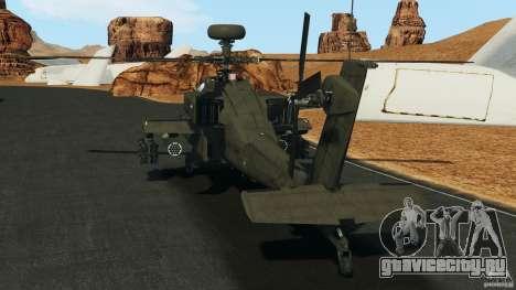 Boeing AH-64 Longbow Apache v1.1 для GTA 4 вид сзади слева