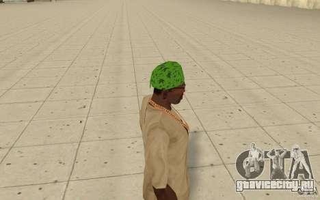 Бандана maryshuana green для GTA San Andreas второй скриншот