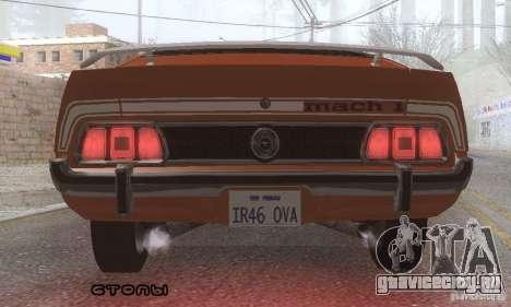 Ford Mustang Mach1 1973 для GTA San Andreas салон