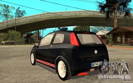 Fiat Grande Punto 3.0 Abarth для GTA San Andreas вид сзади слева