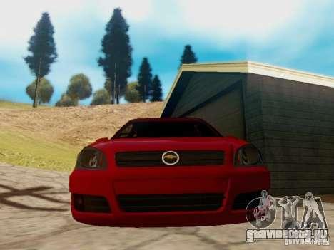 Chevrolet Celta 1.0 VHC для GTA San Andreas вид сзади слева