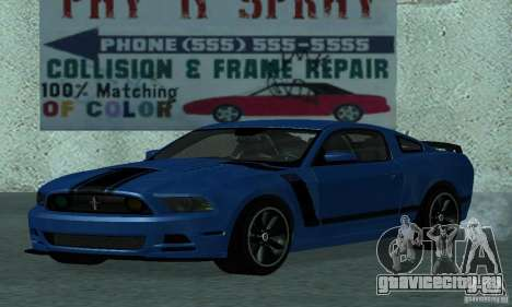 Ford Mustang Boss 302 2013 для GTA San Andreas вид слева