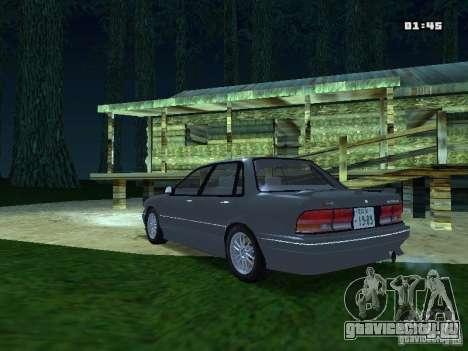 Mitsubishi Galant VR-4 1989 для GTA San Andreas вид сзади слева