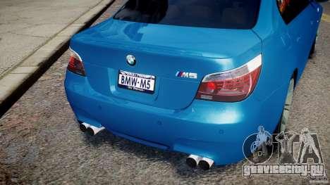 BMW M5 E60 2009 для GTA 4