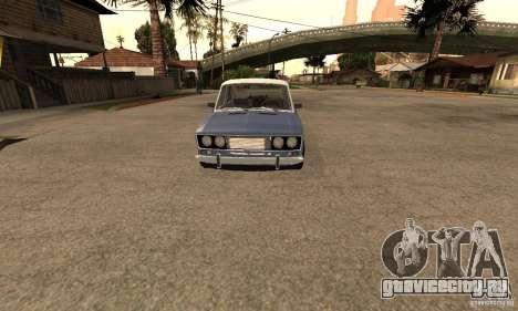 ВАЗ 2106 Old v2.0 для GTA San Andreas вид изнутри