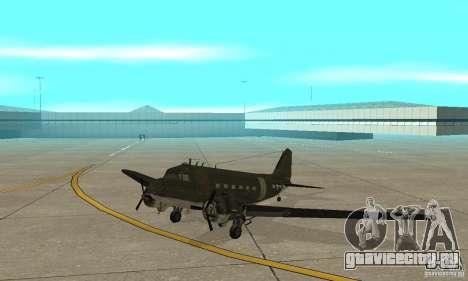 C-47 Skytrain для GTA San Andreas вид слева