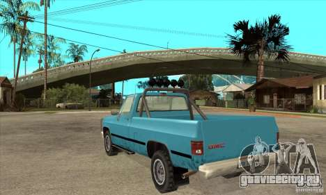 GMC Sierra 2500 для GTA San Andreas вид сзади слева