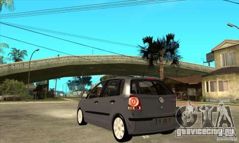 Volkswagen Polo 2008 для GTA San Andreas вид сзади слева