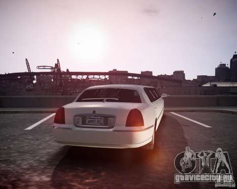 Lincoln Town Car Limousine для GTA 4 вид слева
