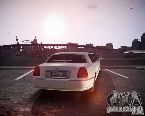 Lincoln Town Car Limousine для GTA 4 вид слева