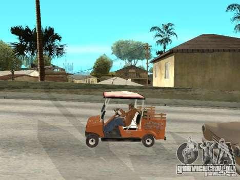 Golfcart caddy для GTA San Andreas вид справа