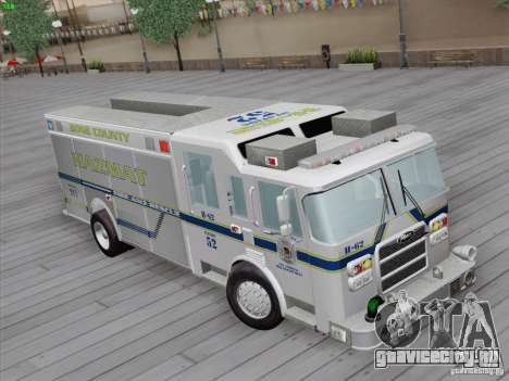 Pierce Fire Rescues. Bone County Hazmat для GTA San Andreas вид сзади слева