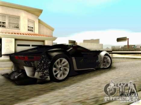 Citroen GT Gymkhana для GTA San Andreas вид сзади слева