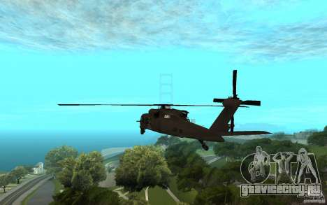 MH-60L Blackhawk для GTA San Andreas вид слева