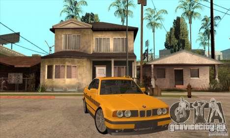 BMW E34 535i Taxi для GTA San Andreas вид сзади