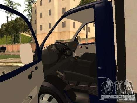 ГАЗ 3302-14 для GTA San Andreas вид сзади