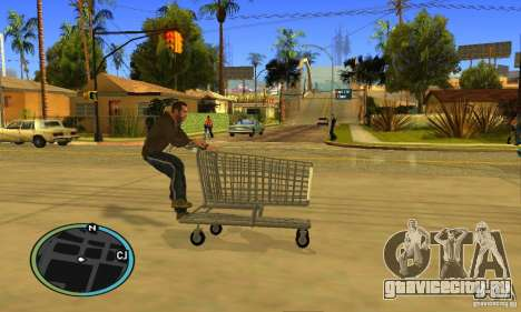 Shopping Cart Faggio V2 для GTA San Andreas вид изнутри