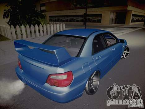 Subaru Impreza WRX STI для GTA San Andreas вид сбоку