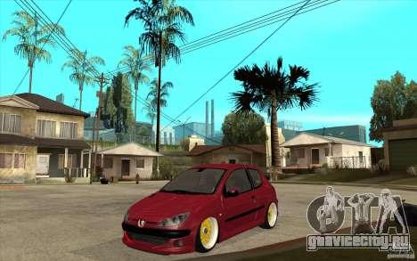 Peugeot 206 GTI для GTA San Andreas