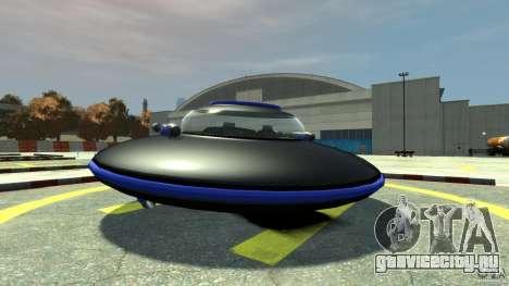 UFO neon ufo blue для GTA 4 вид сзади слева