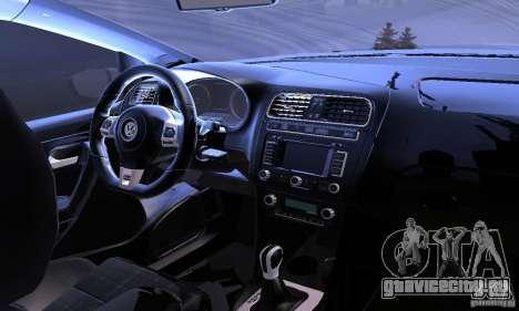 Volkswagen Polo GTI Stanced для GTA San Andreas вид сверху