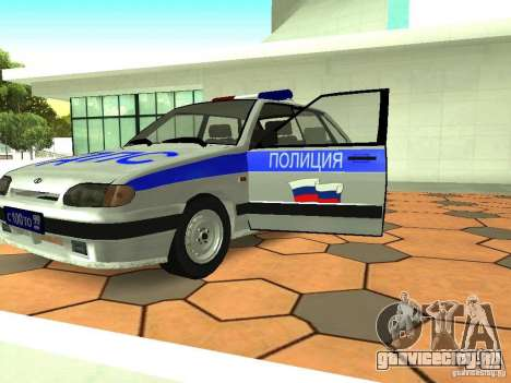 ВАЗ 2114 Полиция для GTA San Andreas вид изнутри