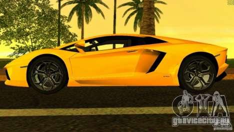 Lamborghini Aventador LP 700-4 для GTA Vice City вид сбоку