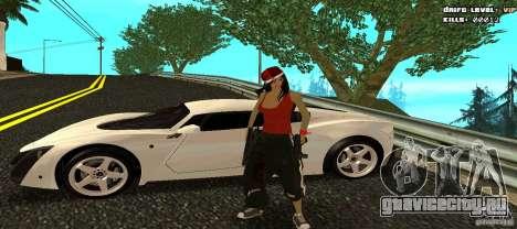 Chicano Chick Skin для GTA San Andreas