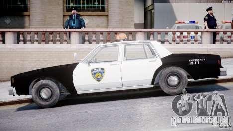 Chevrolet Impala Police 1983 [Final] для GTA 4 вид сзади слева